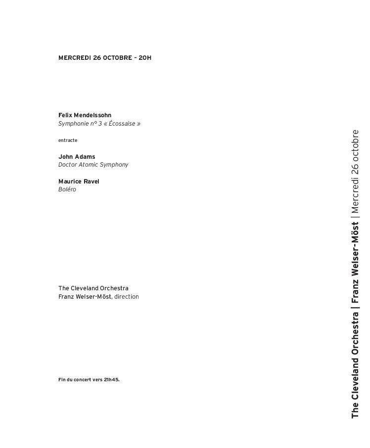The Cleveland Orchestra - Franz Welser-Möst  