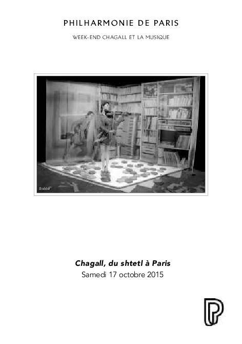 Week-end Chagall et la musique. Chagall, du shtetl à Paris |