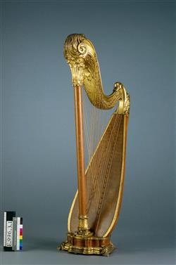 Harpe chromatique dite harpe-luth   Gustave Frantz Lyon