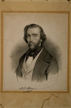 Portrait d'Adolphe Sax (1814-1894)   Baugniet, Charles