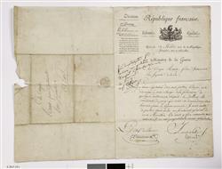 Lettre de Carnot, Ministre de la Guerre, à Raoux, facteur d'instruments à vent | Carnot, Lazare