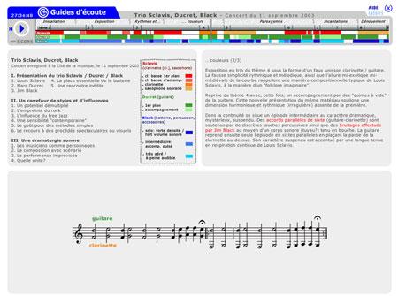 Trio Sclavis Ducret Black. Extrait du concert donné à la Cité de la musique le 11 septembre 2003 |